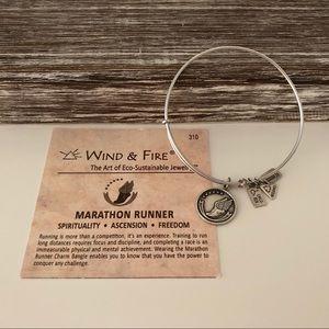 "Wind & Fire Jewelry - Wind & Fire "" Marathon Runner"" silver tone bangle"